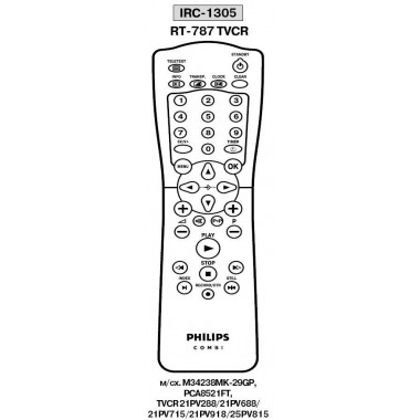Пульт PHILIPS RT-787 TVCR (аналог)